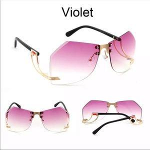 irregular Rimless Women's Sunglasses 🕶 10775